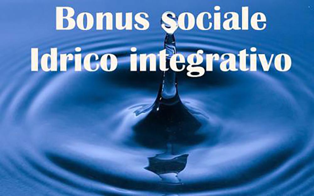 BONUS IDRICO INTEGRATIVO 2021. COMUNICAZIONE ATTIVAZIONE SITO WEB