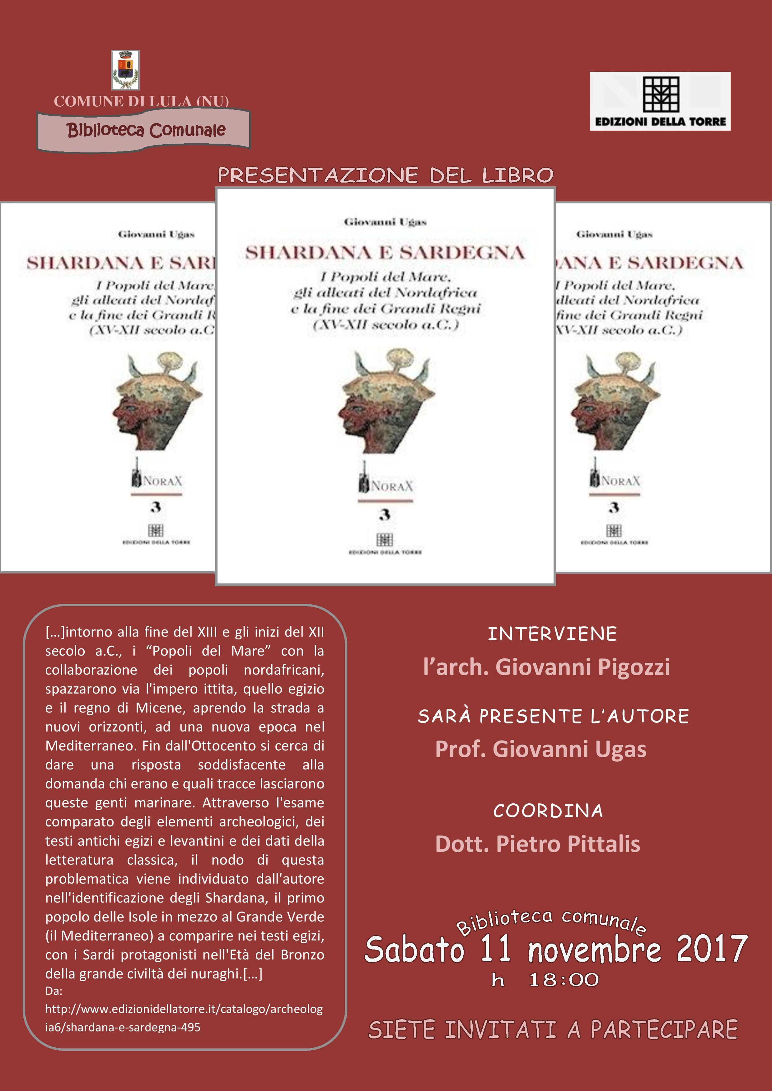 Presentazione del libro 'Shardana e Sardegna' di Giovanni Ugas